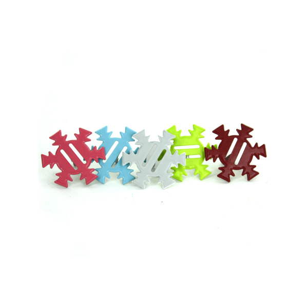 Winter Wonderland Snowflake Ribbon Brads