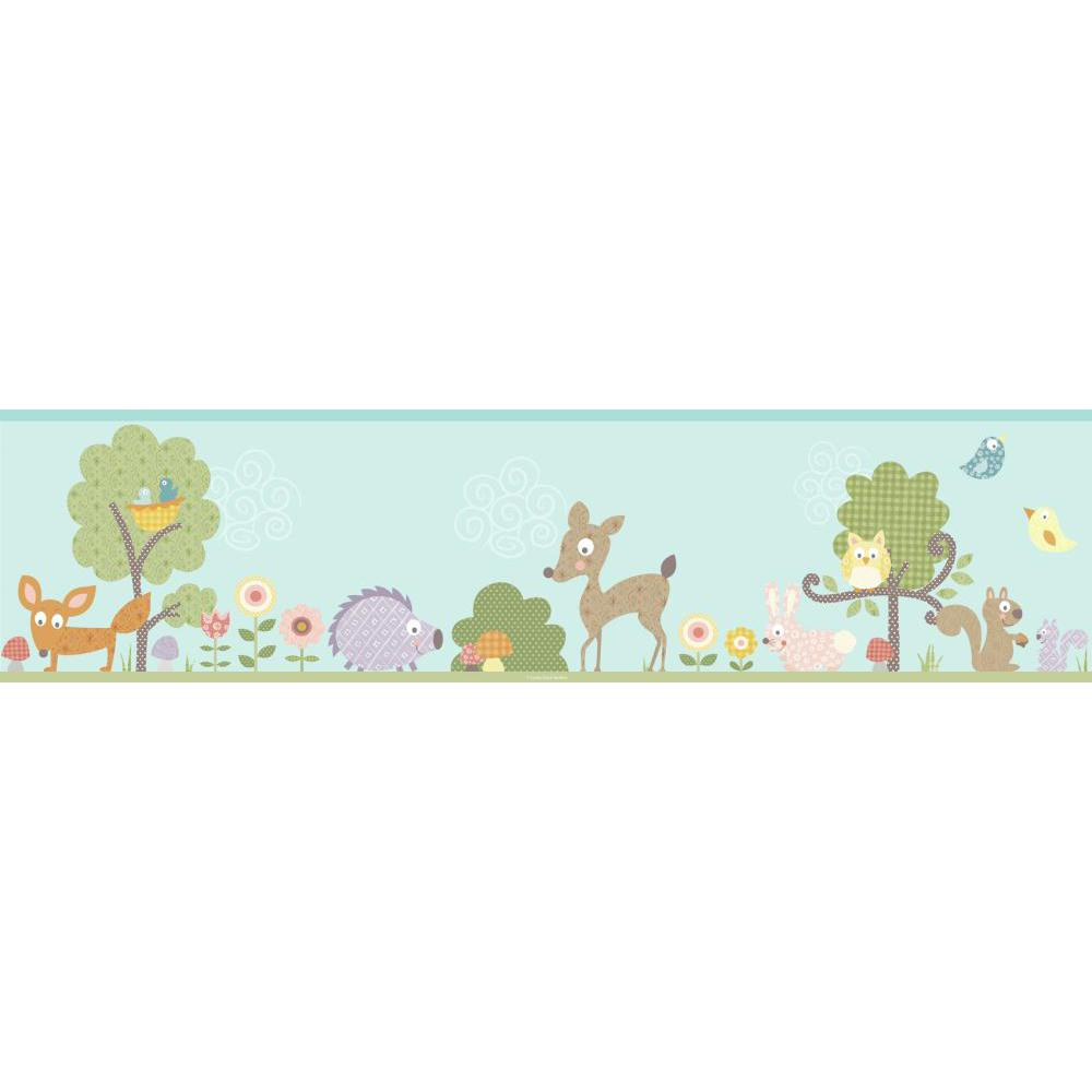 Woodland Animals Peel And Stick Border