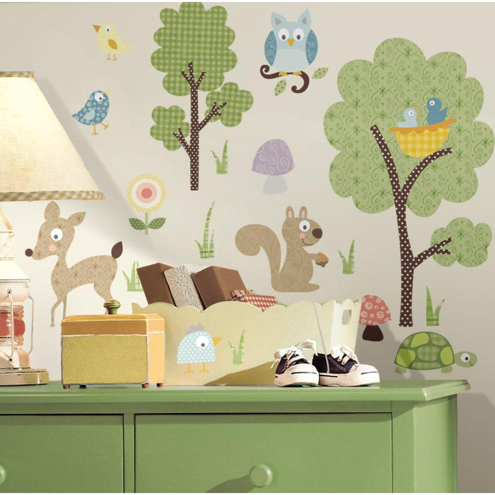 Woodland Animals Peel And Stick Decal