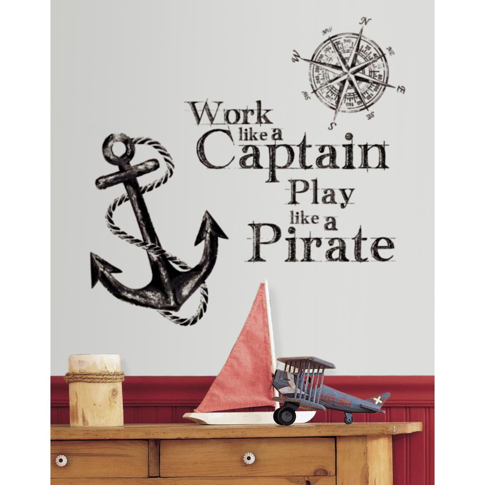 Work Like a Captain Quote Decal