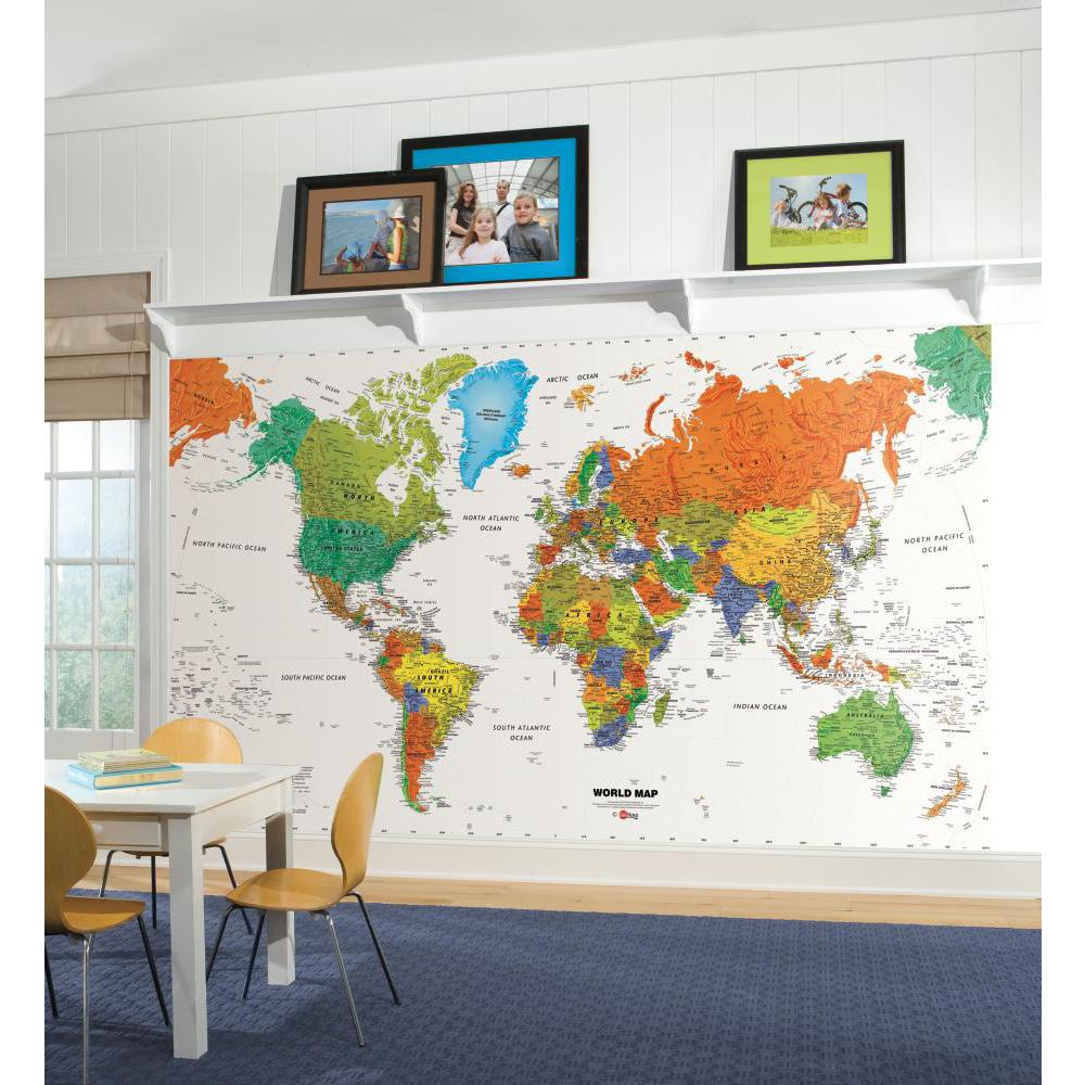 World Map Chair Rail