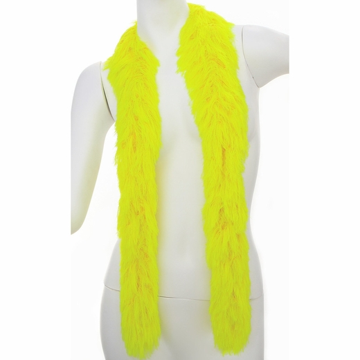 Yellow Faux Fur Boa (6', 190 grams)