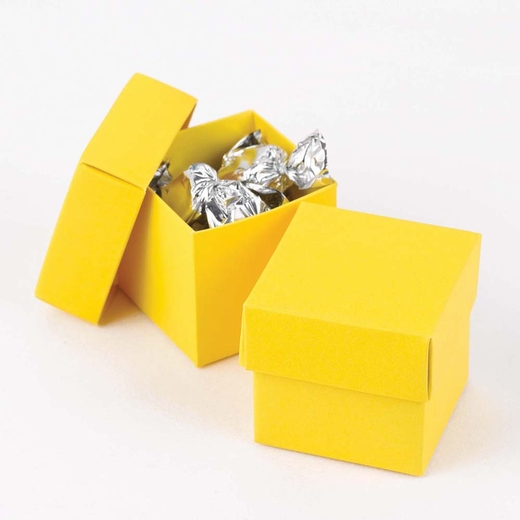 Yellow Two Piece Favor Boxes