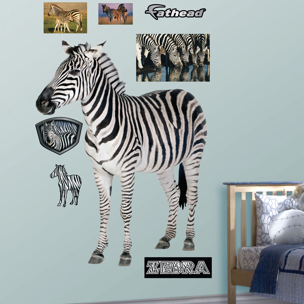 Zebra REALBIG Wall Decal