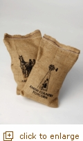 2 lb. Tender & White Gourmet Popping Corn in Burlap Sack
