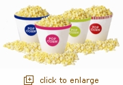 4-Pack Colored Rim Popcorn Tub Variety Pack (Large)