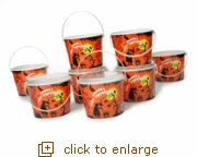 8-Pack Halloween Trick-or-Treat Bucket Set (Overstock)