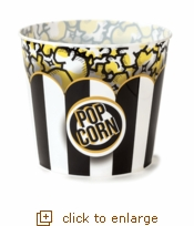 Black & White Classic Striped Popcorn Tub - Jumbo