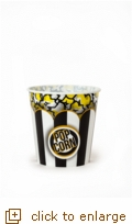 Black & White Classic Striped Popcorn Tub - Large