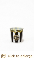 Black & White Classic Striped Popcorn Tub - Small