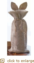 Bunny Ear Burlap Bottle Bag by Mudpie (Overstock)