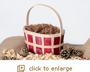 Chipwood Red & White Basket with Handle (Overstock)