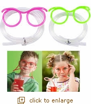 Colored Crazy Straw Drinking Glasses (Overstock)