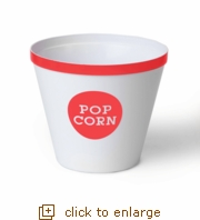 Coral Rim Popcorn Bucket - Large (Case Pack of 12) (Overstock)