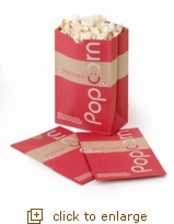Eco-Select Popcorn Bags, 85 oz. (Pack of 25)