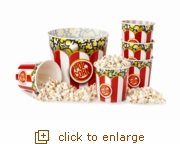 Family Night Popcorn Tub Set - Red & White