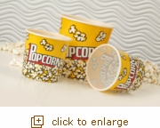 3-Pack Yellow Popcorn Tubs (2 Small, 1 Large)