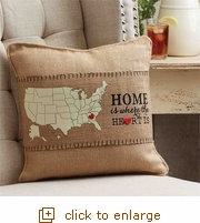 Home is Where the Heart Is Pillow Wrap (Overstock)