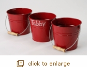Large Red Rustic Bucket