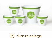 Lime Green Popcorn Bucket Set