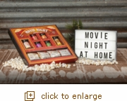 Movie Night Popping Kit & Light Up Marquee