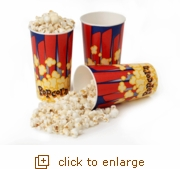 Popcorn Party Tubs, 44 oz. (Pack of 25)