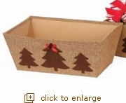 Rectangular Paperboard Brown Box with Trees (Overstock)