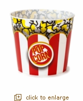Red & White Classic Striped Popcorn Tub - Jumbo