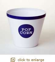 Royal Blue Rim Popcorn Bucket - Large