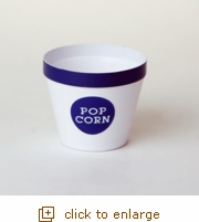 Royal Blue Rim Popcorn Bucket - Small
