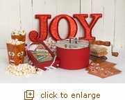 Season's Greeting Gift Set Classic Red Whirley Pop