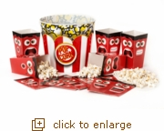 Share the Love of Popcorn - Red & White