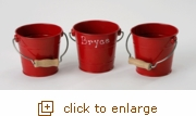 Small Red Rustic Bucket