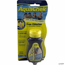 AquaChek/Hach Test Strips, AquaChek Yellow 4-in-1, Free Chlorine, 50 ct # 511242A