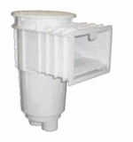 "Custom Molded Products 2"" Socket x 2.5"" Spigot PVC Outlets White lid & Collar ABS/PVC Skimmer with Float Valve # 25140-000-000"