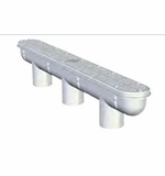 "Custom Molded Products 32"" Channel Drain & Sump - White # 25506-320-000"
