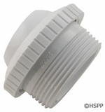 """Custom Molded Products Outlet fitting, 1-1/2""""mpt x 1"""" Eye, White (Generic) # 25552-400-000"""