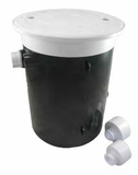 "Custom Molded Products Water Leveler White with Float ( 1"", 1.5"", 2"" Hole) # 25504-100-000"