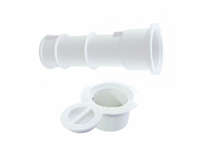 Custom Molded Products Volleyball Pole Holder Assembly - White # 25570-100