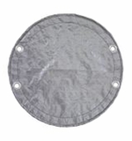King 16'/18' Round AG Winter Cover - Silver/Black # 1222ASBL