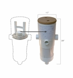 Paramount Canister with Deck Ring and Lid/Mesh Bag and MVFuse - White # 004152451601