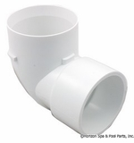 "Pentair Pool Products Hyper Flow Suction 2"" Spig. Ell, White # 45255500"