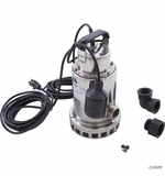 Pentair Submersible Pool Service Pump with Brass Base PCD-1000