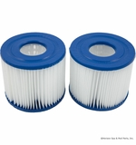 "Pleatco Filter Corp. Cartridge,2.5sqft,2-1/16""ot,2-1/16""ob,4-1/4"",3-3/4""3oz pair # PBW4 PAIR"