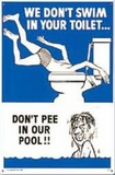 Poolmaster Toilet No 2 Sign # 41327