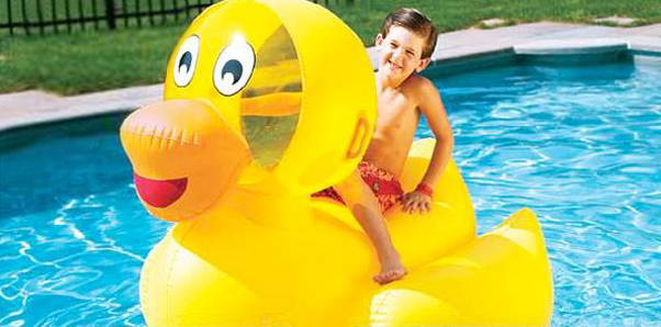 Swimline 9062 Giant Inflatable Ducky Rider Pool Float