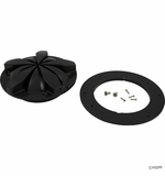 Triodyne Safety Systems Drain Cover, Anti-Hair Snare Plus W/Adapter & Screws, Black # TSS-2820CK