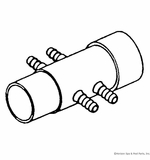 "Waterway Plastics Manifold 1.5"" W/(4) 3/8"" Barbs # 672-4330"