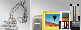 """AGL GEOMAX EzDig """"T"""" 1D Touch Excavator Machine Control Guidance System #834408"""
