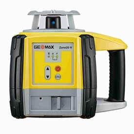 Geomax Zone 20H  Rotary Laser Level with ZRD105 Digital Receiver and Manual Slope Matching
